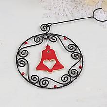Dekorácie - vianočná dekorácia so zvončekom - 9989153_