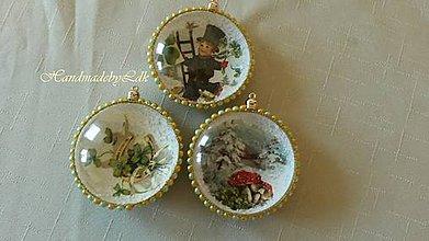 Dekorácie - Vianočný medailón pre šťastie - 9989241_