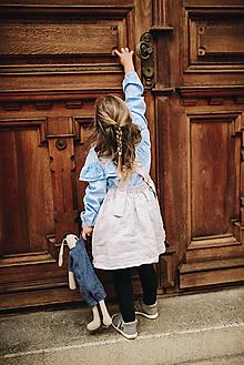 Detské oblečenie - Sukňa na traky s vreckami (116 - Bordová) - 9991733_