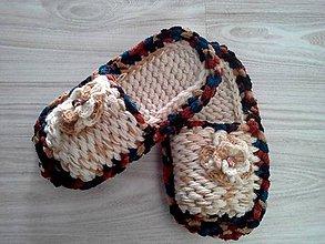Obuv - pletené papučky - vsuvky - 9989139_