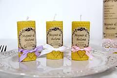 Darčeky pre svadobčanov - Svadobné sviečky - menovky/darčeky pre svadobčanov 1 - 9991658_