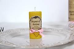 Darčeky pre svadobčanov - Svadobné sviečky - menovky/darčeky pre svadobčanov 1 - 9991660_