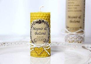 Darčeky pre svadobčanov - Svadobné sviečky - menovky/darčeky pre svadobčanov 2 - 9991751_