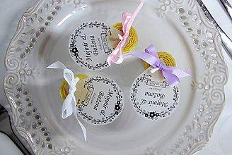Darčeky pre svadobčanov - Svadobné sviečky - menovky/darčeky pre svadobčanov 3 - 9991798_
