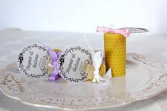 Darčeky pre svadobčanov - Svadobné sviečky - menovky/darčeky pre svadobčanov 3 - 9991800_