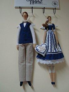 Bábiky - Anjelský párik pre mladomanželov - 9992540_