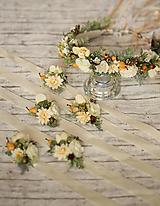 Náramky - Jesenný kvetinový náramok pre družičky - 9991866_