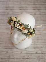 Ozdoby do vlasov - Svadobný jesenný kvetinový venček - 9991916_