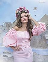 Ozdoby do vlasov - Ružová veľká bohato zdobená kvetinová parta z kolekcie pre Lydiu Eckhardt - 9992458_