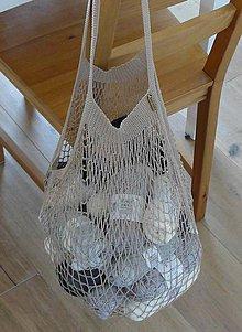 Nákupné tašky - Francúzska retro sieťovka - 9989755_