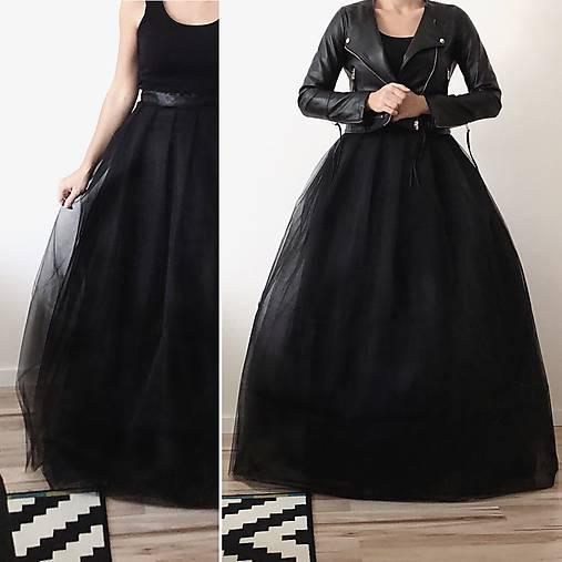28144e5e3bc1 Tylová sukňa dlhá čierna   TinyThea - SAShE.sk - Handmade Sukne