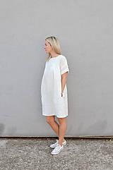 - Ľanové šaty NORA biele - 9992945_
