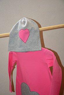 Detské čiapky - Čiapka Pinkki Heart - 9991164_