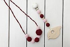 Hračky - Set náhrdelníka a hryzadielka Ruža - 9992105_