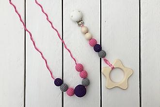 Hračky - Set náhrdelníka a hryzadielka Cukríky - 9991880_