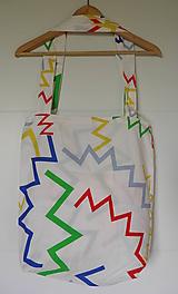 Veľké tašky - Taška biely cik-cak - 9993120_