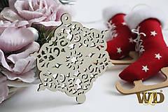 Dekorácie - Vianočné drevené ozdoby - 9991271_