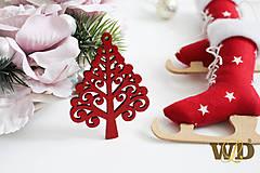 Dekorácie - Vianočné drevené ozdoby - 9991274_