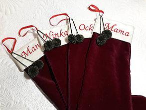 Drobnosti - Mikulášske ponožky na želanie s menom - 9992499_