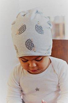 """Detské čiapky - Dvojvrstvová čiapka """"ježkovia"""" posledné kusy! - 9989424_"""