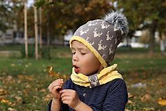 Detské čiapky - Hrejivý set s brmbolcom - 9991650_