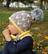 Detské čiapky - Hrejivý set s brmbolcom - 9991652_