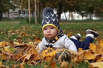 Detské čiapky -  Set s brmbolcom - 9991565_