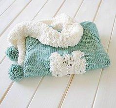 Detské oblečenie - Chlpáčik so šálom - 9991130_