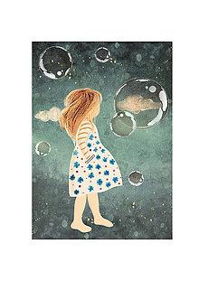 Grafika - Bosé dievča - autorská ilustrácia v elektronickej podobe - 9990017_