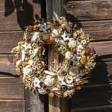 Dekorácie - Prírodný vianočný venček - 9989084_