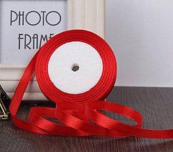Galantéria - SS101 Stuhy saténové farebné 10 mm / cena za meter (Červená) - 9992267_