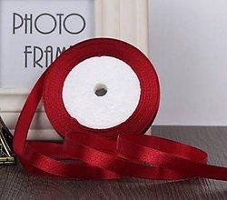 Galantéria - SS101 Stuhy saténové farebné 10 mm / cena za meter (Vínovo červená) - 9992271_