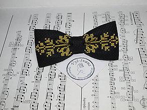 Doplnky - Vyšívaný motýlik žltý Vendelín - 9992197_