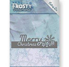 Pomôcky/Nástroje - Kovová šablóna Frosty Ornaments - Text Merry Christmas - 9992323_