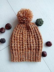 Detské čiapky - Detská čiapka s brmbolcom 5-9 rokov - 9989243_
