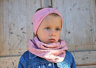 Detské súpravy - NÁKRČNÍK + ČELENKA - 9989665_