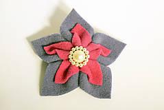 Odznaky/Brošne - Brošňa ruža malá - 9991507_