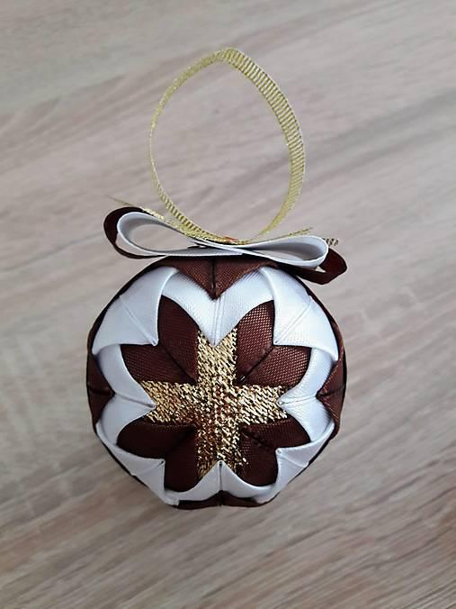 c17b551d0 Vianočná guľa - patchwork (Hnedá) / Tatiana1982 - SAShE.sk ...