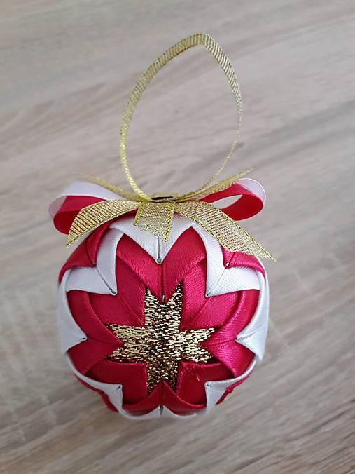 ea3d67e9e Vianočná guľa - patchwork (Ružová) / Tatiana1982 - SAShE.sk ...