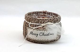 Svietidlá a sviečky - Svetríkový vianočný svietnik (Hnedá) - 9992860_