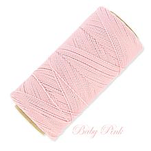 Galantéria - Linhasita voskovaná šnúrka na micro macramé, 1mm, bal.1klbko (168m), farebná škála č.1 (Baby Rose) - 9993250_