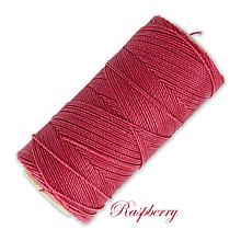 Galantéria - Linhasita voskovaná šnúrka na micro macramé, 1mm, bal.1klbko (168m), farebná škála č.1 (Raspberry) - 9993336_