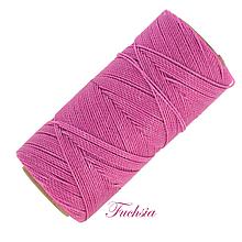 Galantéria - Linhasita voskovaná šnúrka na micro macramé, 1mm, bal.1klbko (168m), farebná škála č.1 (Fuchsia) - 9993349_