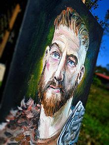 Obrazy - Obraz - Portrét bojovníka / olejomaľba / - 9991716_
