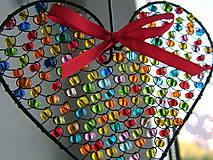 Dekorácie - srdiečko ♥ srdce (pestrofarebné) - 9994497_