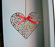 Dekorácie - srdiečko ♥ srdce (pestrofarebné) - 9994498_