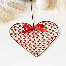 Dekorácie - srdiečko ♥ srdce (červené) - 9994507_