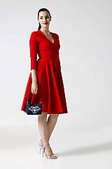 - Šaty Cross červené (na miery) - 9996352_