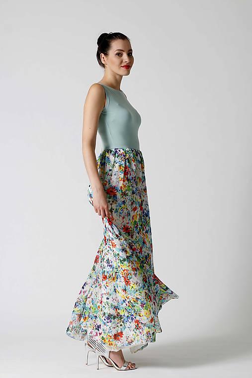 Dlhé šaty so šifónom   ZuzanaZachar - SAShE.sk - Handmade Šaty 85793403653