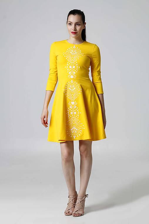 Šaty žlté Lovely   ZuzanaZachar - SAShE.sk - Handmade Šaty dcb028f65c1